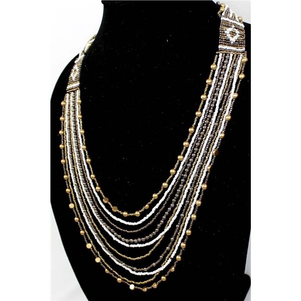 10 Strand Beaded Necklace