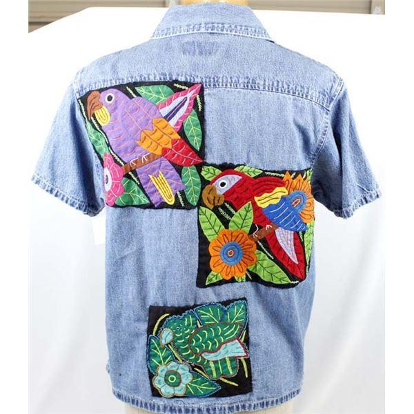 New Riders Indigo Denim Shirt with Molas on Back
