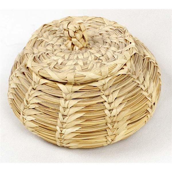 Tohono O'odham Lidded Basket by Margaret Juan
