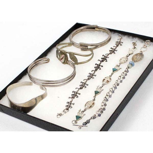 7 Sterling Silver Bracelets