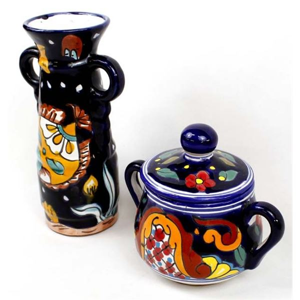 2 Pieces of Glazed Mexican Pottery