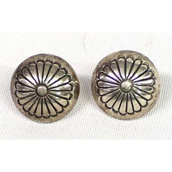 Navajo Sterling Concho Earrings