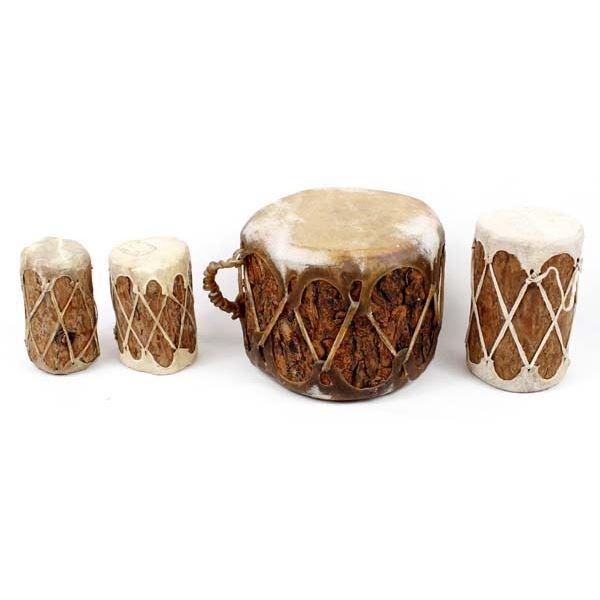 4 Tarahumara Log and Hide Drums