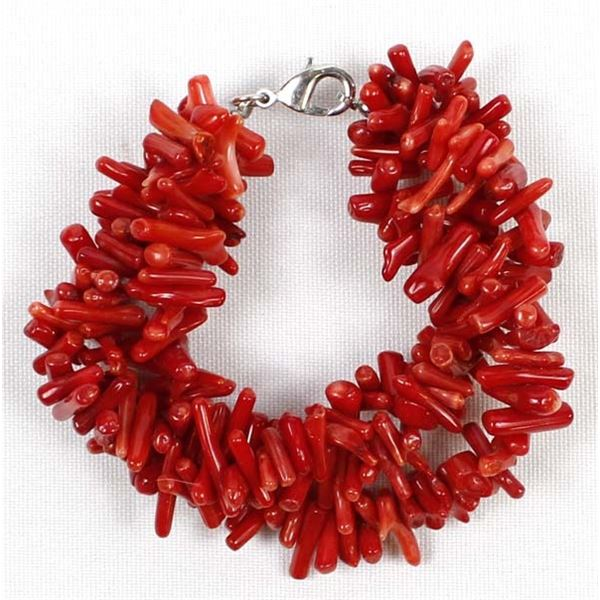3 Strand Branch Coral Bracelet