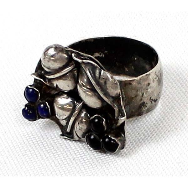 Mimbres NM Estate Sterling Silver Ring, Size 11