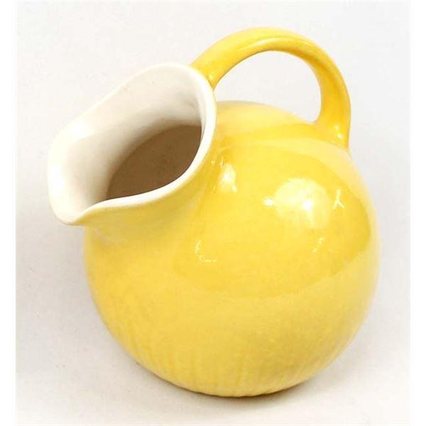 Yellow Ceramic Ball Pitcher