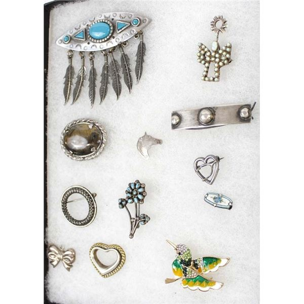 Miscellaneous Pins, Mostly Sterling