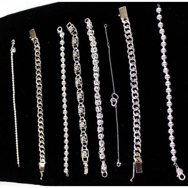 8 Silver Bracelets