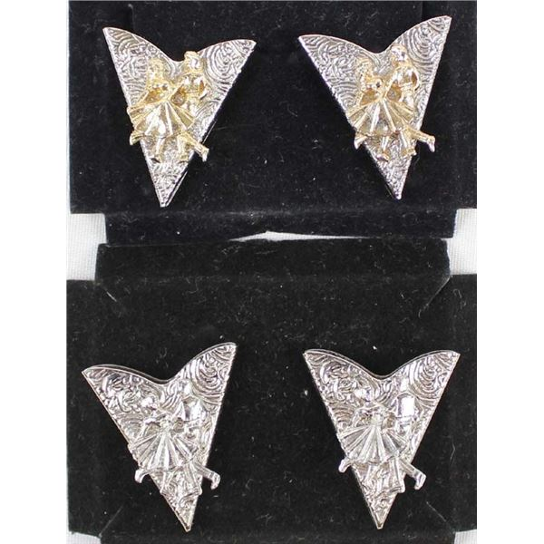 2 Sets of Western Square Dancing Collar Tips