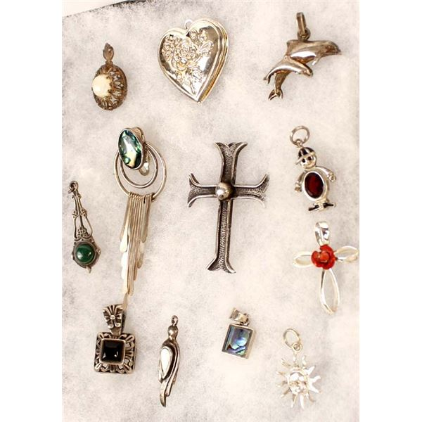 Collection of Pendants and 1 Single Earring