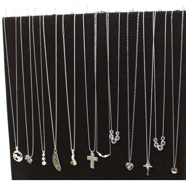 12 Miscellaneous Necklaces, Mostly Sterling