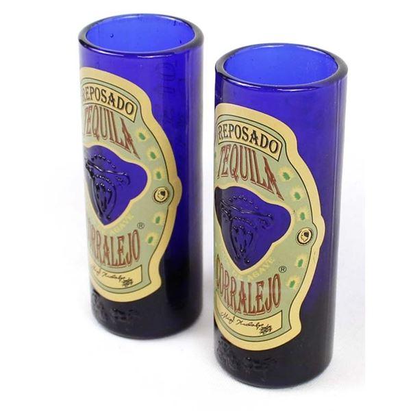 2 Reposado Tequila Corralejo Shot Glasses
