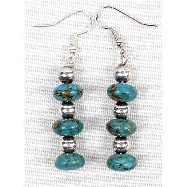 Sterling Silver & Turquoise Bead Earrings