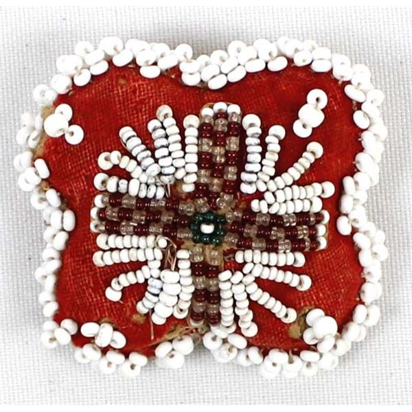 Small Vintage Iroquois Beaded Pin Cushion