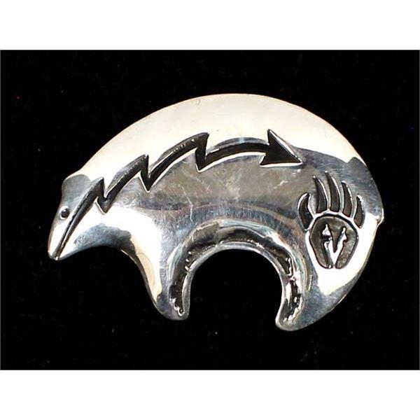 Navajo Sterling Silver Bear Pin
