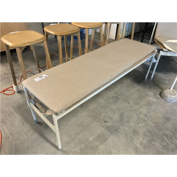 """WHITE/ASH DWR SOMMER 52"""" BENCH SUGGESTED RETAIL PRICE $995 US AND A SOMMER"""