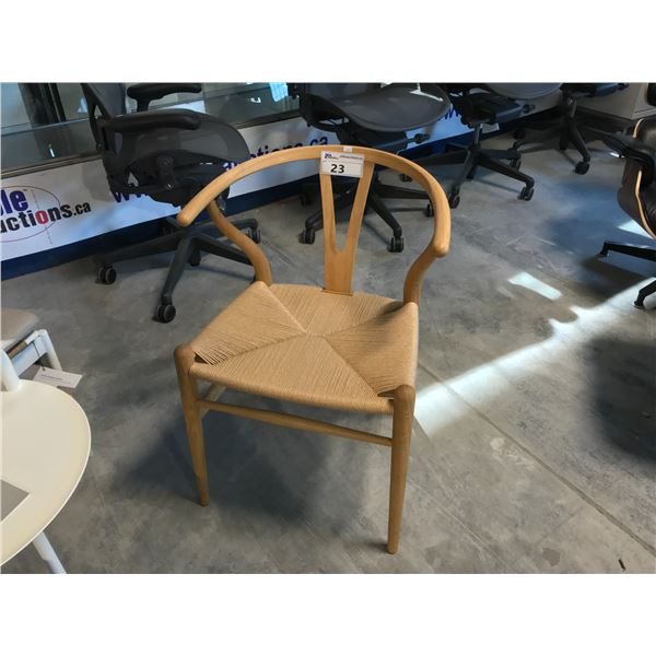 CARL HANSEN & SONS WISHBONE ACCENT CHAIR SUGGESTED RETAIL PRICE $274 US