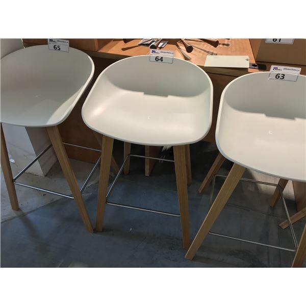 BEIGE/OAK TRACTOR SEAT BARSTOOL