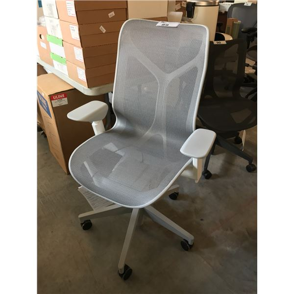 GREY HERMAN MILLER COSM HI-BACK EXECUTIVE CHAIR SUGGESTED RETAIL VALUE $1495 US