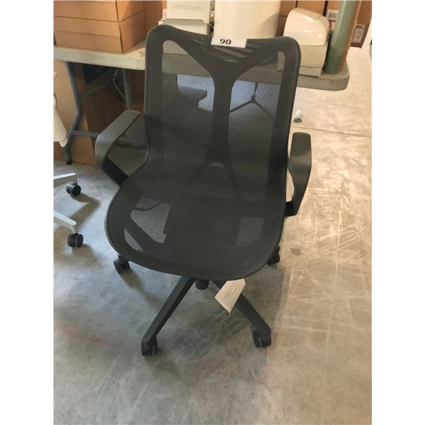 BLACK HERMAN MILLER COSM MID-BACK EXECUTIVE CHAIR SUGGESTED RETAIL PRICE $895 US