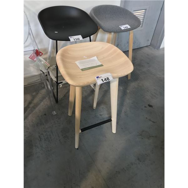 WHITE ASH TRACTOR COUNTER STOOL SUGGESTED RETAIL PRICE $1275 US