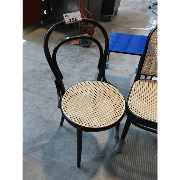 TON BLACK BENTWOOD RATTAN SIDE CHAIR (S2)