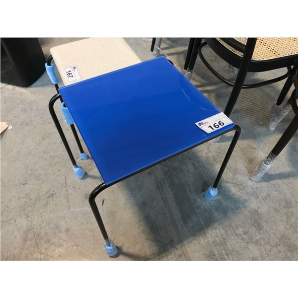 COBALT BLUE FELLOW END TABLE SUGGESTED RETAIL PRICE $798 US