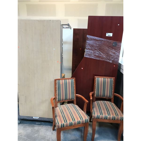 LARGE LOT OF MISC. OFFICE FURNITURE - MUST TAKE ALL