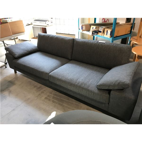 """CHARCOAL ARENA 95""""  DUCALE WOOL 3 SEAT SOFA"""