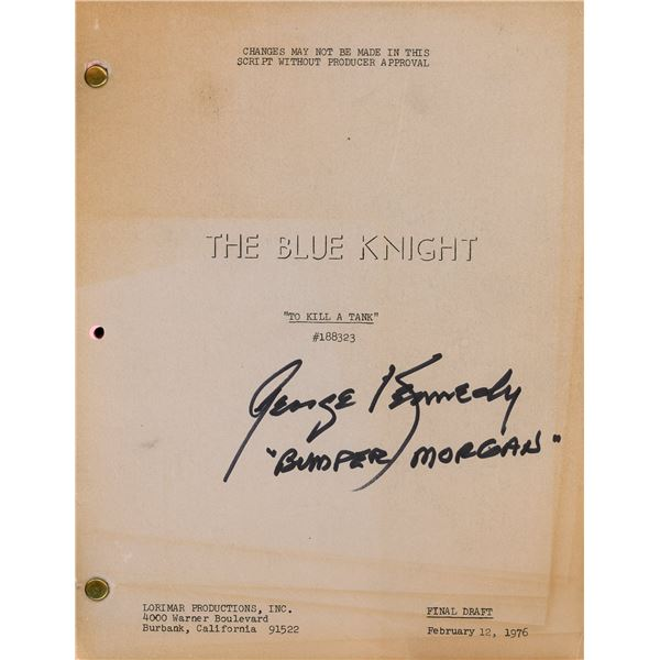 George Kennedy Signed The Blue Knight Script