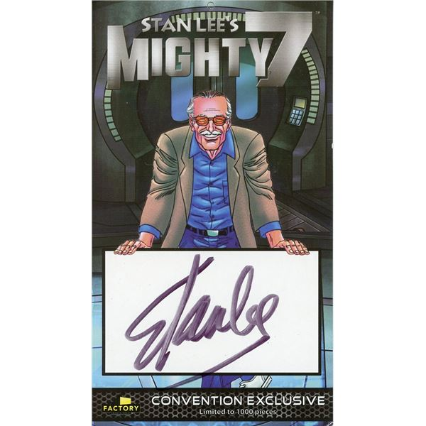 Stan Lee Signed Mighty 7 Collectors Card