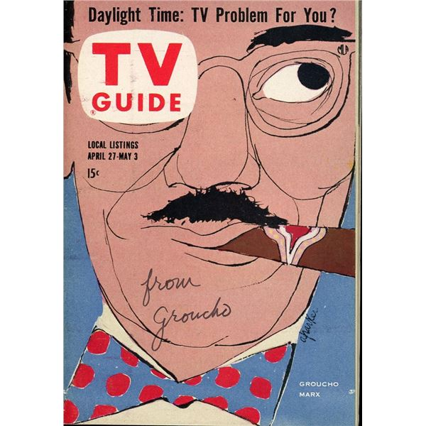 Groucho Marx Signed TV Guide