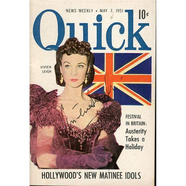 Vivien Leigh Signed Quick Pocket Magazine