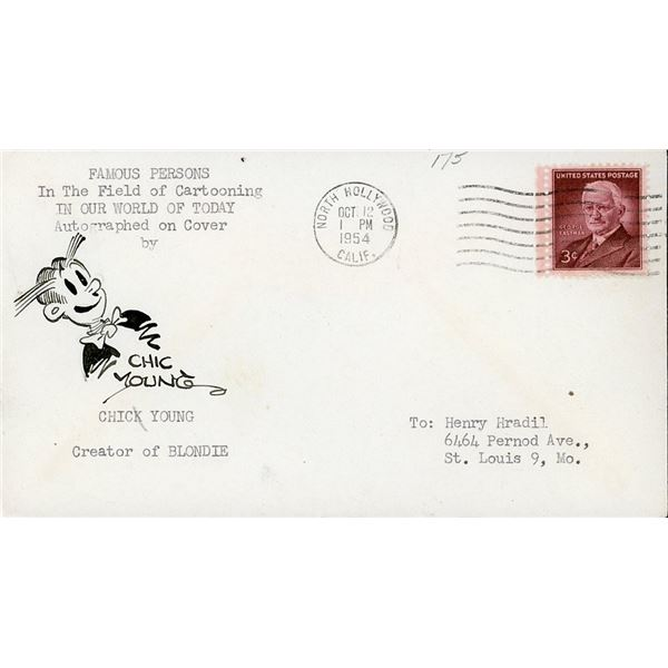 Chic Young Signed First Day Cover