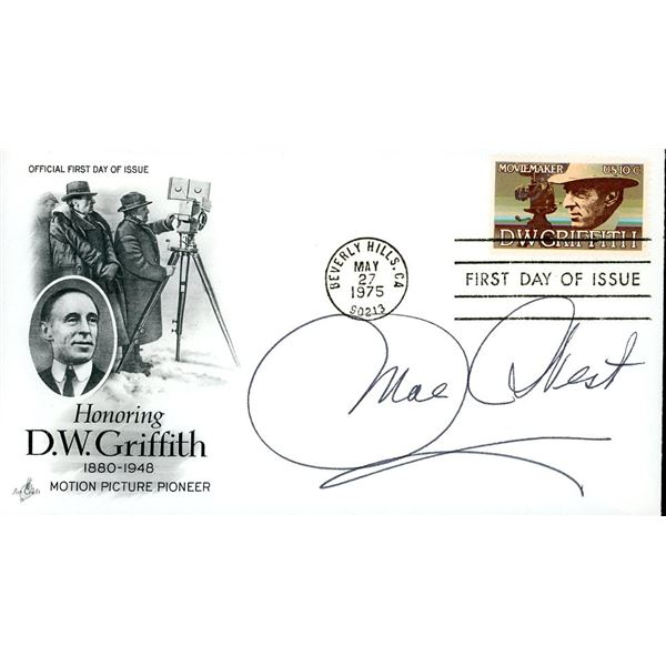 Mae West Signed First Day Cover