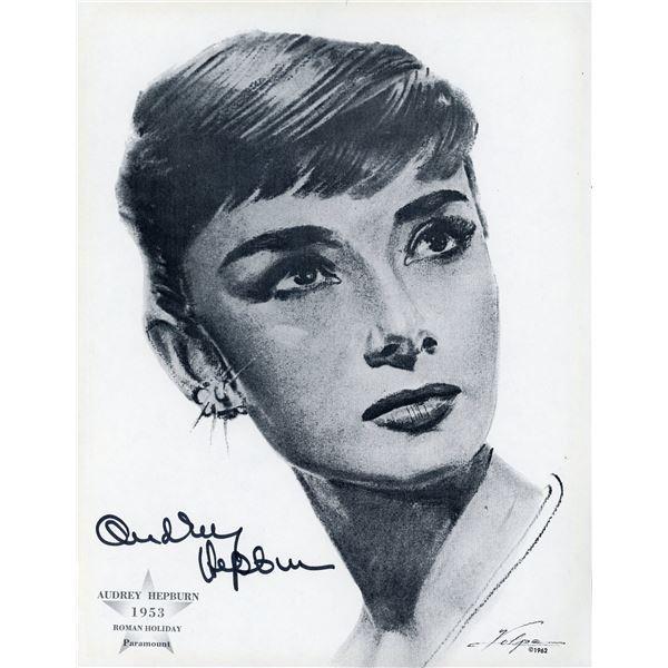 Audrey Hepburn Signed Nicholas Volpe Print