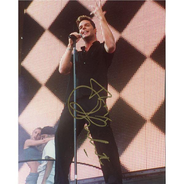 Ricky Martin Signed 8x10 Photo