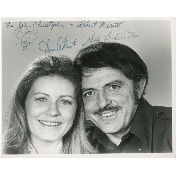 Patty Duke and John Astin Signed 8x10 Photo