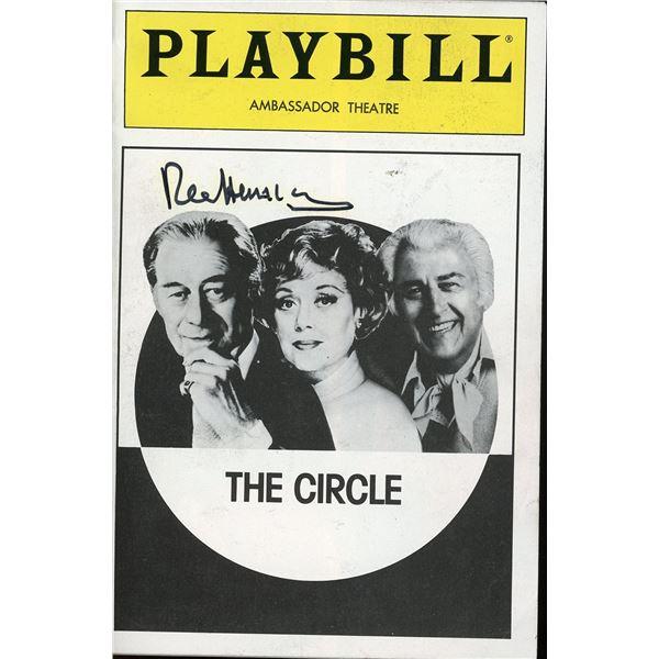 Rex Harrison Signed Playbill