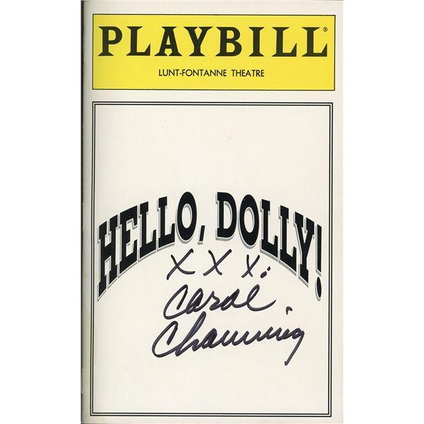 Carol Channing Signed Playbill