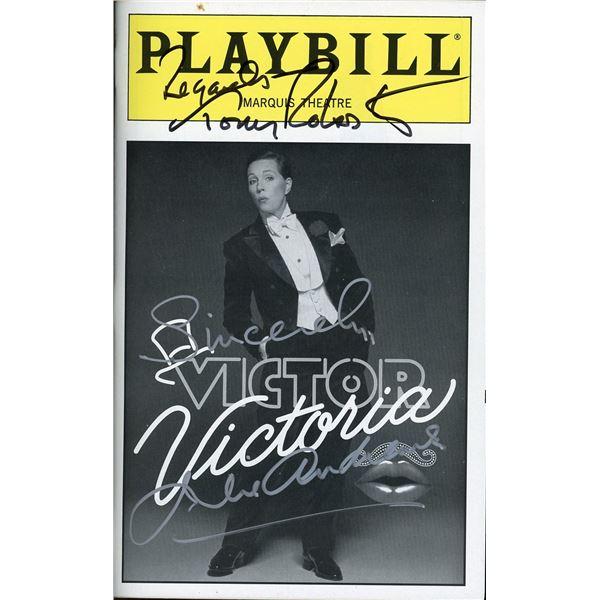 Julie Andrews Tony Robbins Signed Playbill