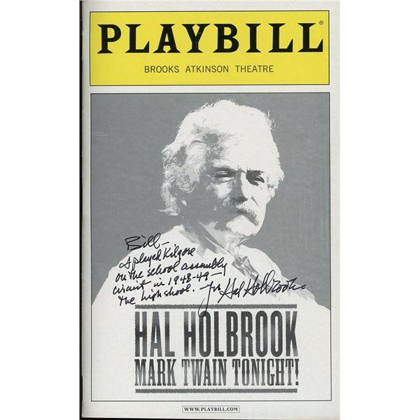 Hal Holbrook Signed Playbill