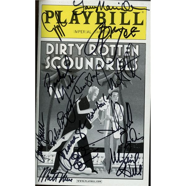 Dirty Rotten Scoundrels Cast Signed Playbill