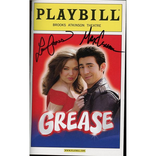 Max Crumm Laura Osnes Signed Playbill