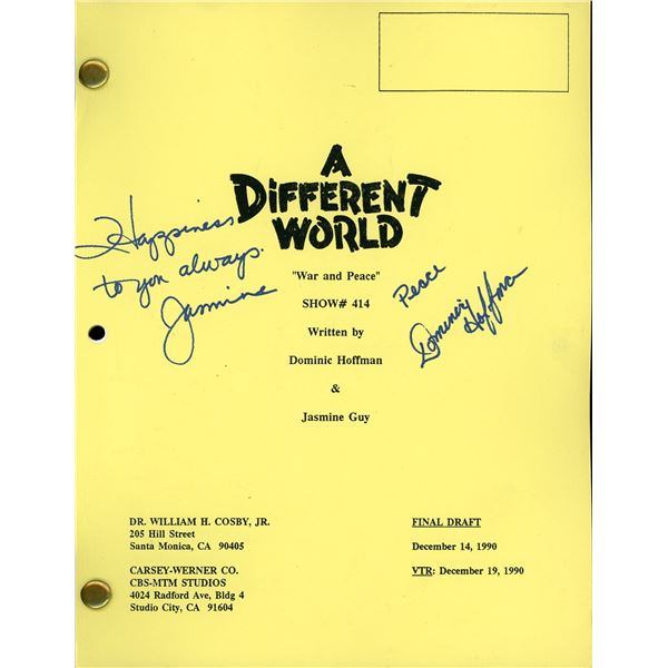 A Different World Signed Script