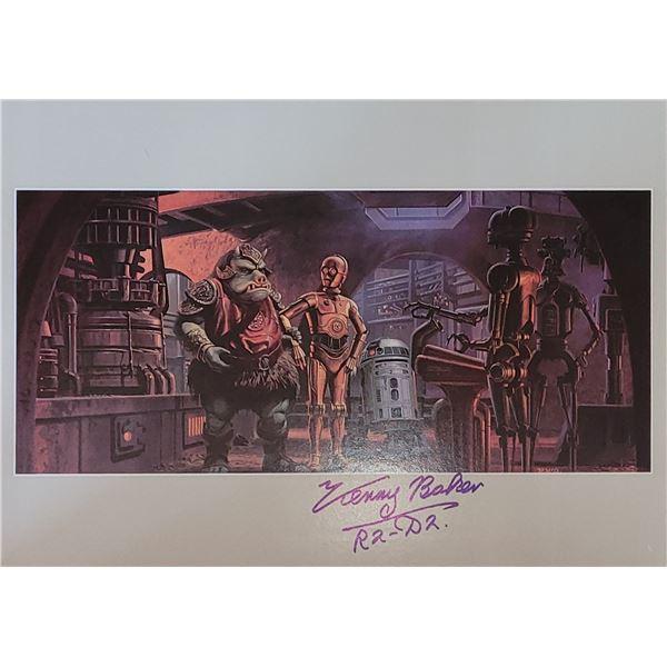Kenny Baker Signed R2D2 Star Wars Print