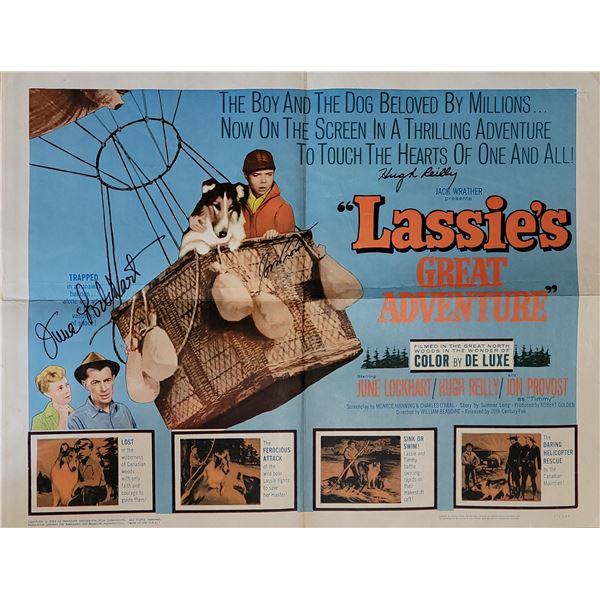 Lassie's Great Adventure Signed Poster