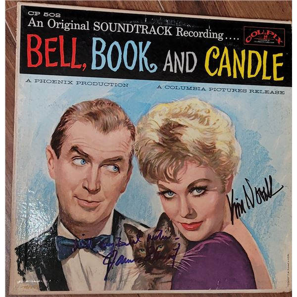 James Stewart Kim Novak Bell, Book and Candle Signed LP