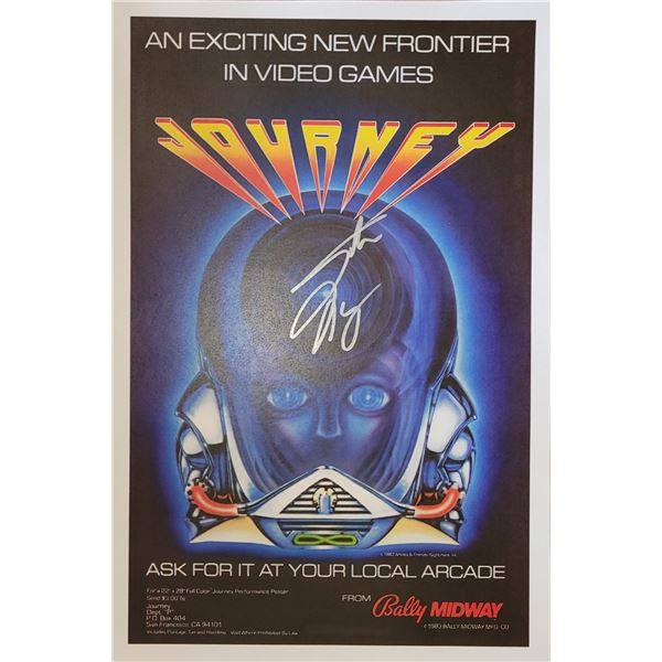 Steve Perry Journey Signed Window Card