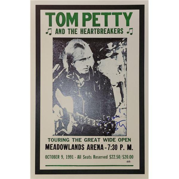 Tom Petty Signed Window Card